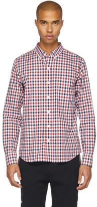 Moncler Gamme Bleu Red Plaid Shirt