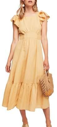 Free People Takin' a Chance Midi Dress