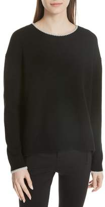 Vince Wool & Cashmere Tipped Sweater