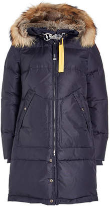 Parajumpers Light Long Bear Down Parka with Fur-Trimmed Hood