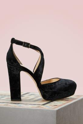 Jimmy Choo Joyce 120 velvet pumps