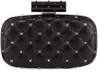 Valentino Rockstud Spike Quilted Minaudiere Bag
