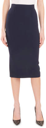 Roland Mouret High-Waist Stretch Midi Pencil Skirt