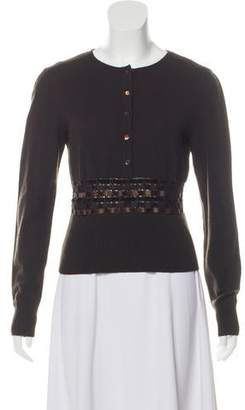 Valentino Cashmere & Fleece Wool-Blend Knit Sweater