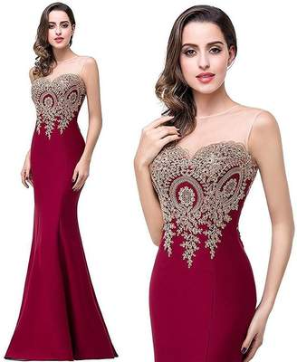 87df234f0141 In-fashion style Women s Elegant Cocktail Evening Dress   Mermaid Formal  Long Prom Dress