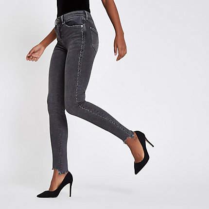 Womens Grey Rl Amelie super skinny jeans