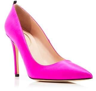 Sarah Jessica Parker Fawn Satin High-Heel Pumps
