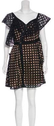 Self-Portrait One-Shoulder Guipure Lace Dress