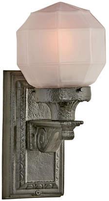 Rejuvenation Cast Iron Entry Bracket w/ Faceted Etched Globe