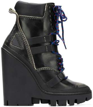 Diesel wedge ankle boots