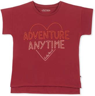 Biking Red 'Adventure Anytime' Fleur Tee - Girls