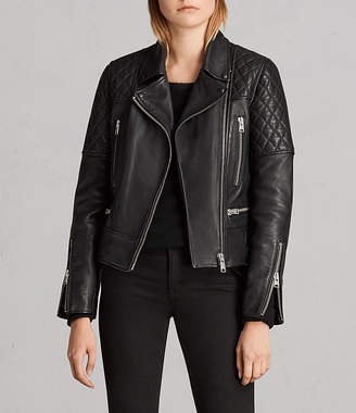 AllSaints Esher Leather Biker Jacket