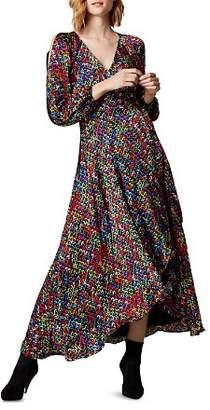 Karen Millen Sequin-Print Wrap Dress