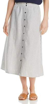 Eileen Fisher Striped Button-Down Midi Skirt