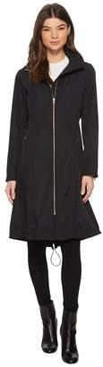 Cole Haan Double Face Rain Parka with Detachable Hood Women's Coat