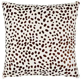 Barneys New York Cheetah-Pattern Calf Hair & Suede Pillow