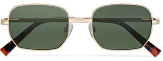 Le Specs The Flash Square-frame Gold-tone Sunglasses