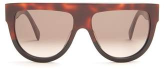 Celine Shadow D Frame Acetate Sunglasses - Womens - Tortoiseshell