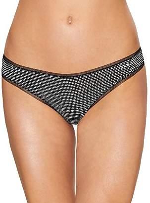 DKNY Women's Seamless Litewear High Neck Solid Crop
