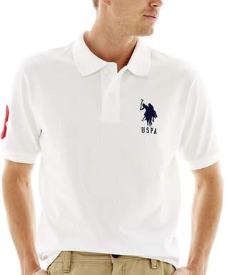 U.S. Polo Assn. USPA Short-Sleeve Big Pony Piqu Polo