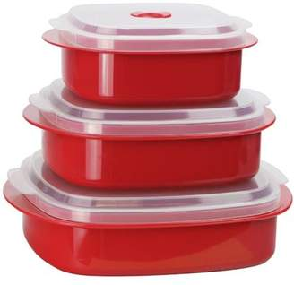 Calypso Basics, Microwave Cookware/ Storage Set, Red