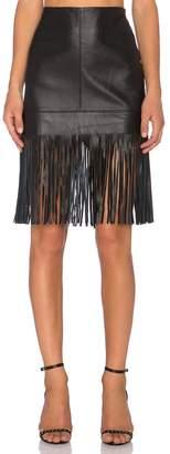 Fifteen-Twenty Fifteen Twenty Leather Fringed Skirt