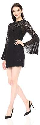 Keepsake The Label Women's Be The One Long Bell Sleeve Lace Illusion Mini Dress