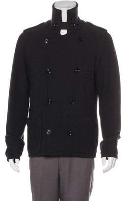 Burberry Double-Breasted Wool Cardigan