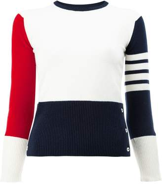Thom Browne Contrast stripe pullover
