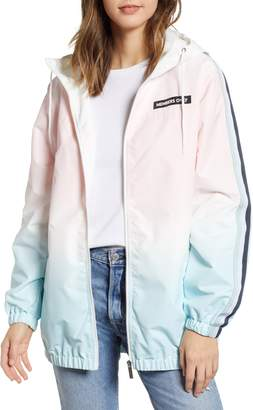 Members Only Ombre Long Bomber Jacket