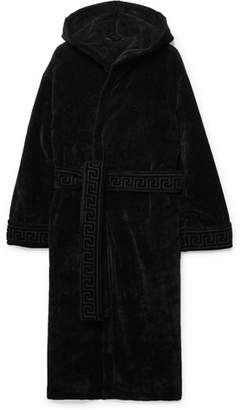 Versace Logo-Jacquard Loopback Cotton Robe