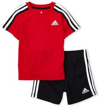 adidas Infant Boys) Two-Piece Logo Tee & Soccer Shorts Set