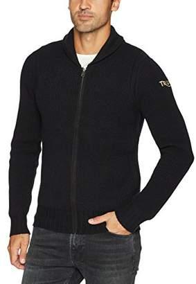 Lucky Brand Men's Triumph Tiger Full Zip Sweater