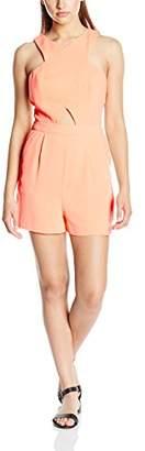 New Look Women's Go Cut Out Playsuit Plain Sleeveless Dress