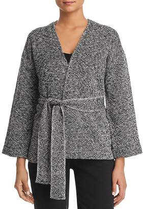 Eileen Fisher Petites Belted Organic-Cotton Jacket