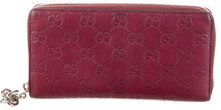 Gucci Gucci Guccissima Zip-Around Wallet