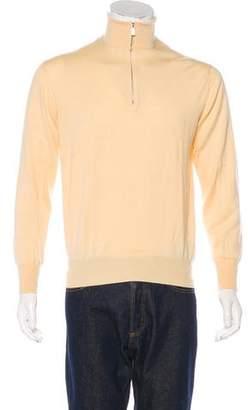 Loro Piana Half-Zip Turtleneck Sweater