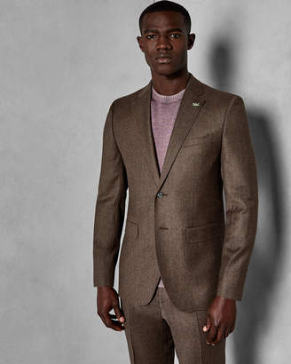Ted Baker TUMENJ Global slim flannel suit jacket