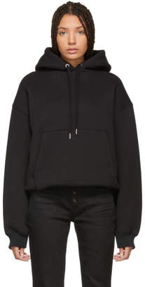 Alexander Wang Black Dense Fleece Hoodie