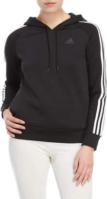 adidas Essential 3-Stripe Pullover Fleece Hoodie