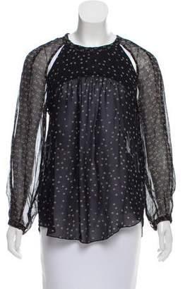 Etoile Isabel Marant Long Sleeve Floral Print Top