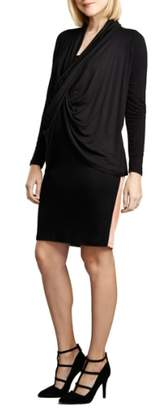 Maternal America Front Drape Nursing Dress