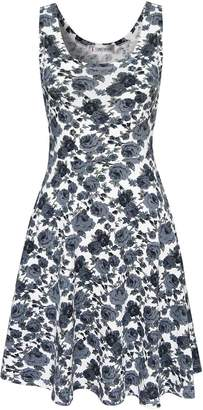 Toms Tom's Ware Womens Casual Fit and Flare Floral Sleeveless Dress TWCWD054-US XXL-CA