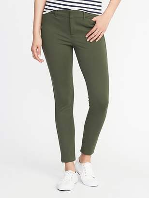 Old Navy Mid-Rise Built-In Sculpt Ponte-Knit Pixie Ankle Pants for Women
