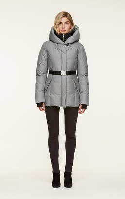 Soia & Kyo TALLIA water-repellent brushed down coat with removable belt