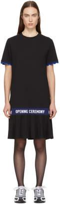 Opening Ceremony Black Scallop Elastic Logo T-Shirt Dress