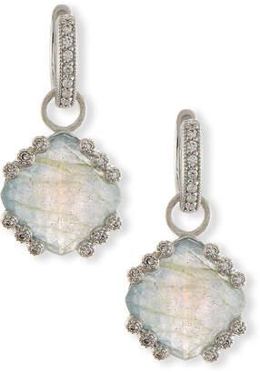 Jude Frances Labradorite & Blue Topaz Earring Charms with Diamonds