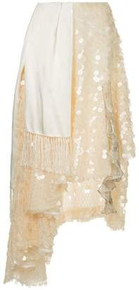 Preen by Thornton Bregazzi asymmetric embellished skirt