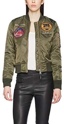 Schott NYC Women's JKTACSOUVW Bomber Jacket,(Size: S)