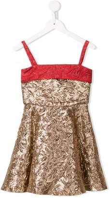 Little Bambah metallic embossed princess dress